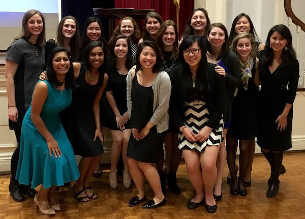 CMU SWE members pose at a conference