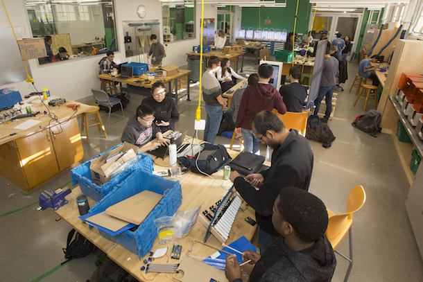 The Tech Spark is the new collection of collaborative student maker spaces including areas for design, rapid fabrication, 3-D printing, and more.