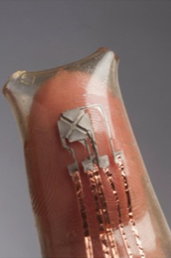 flexible electronics on fingertip