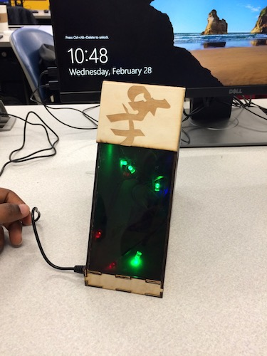 student projects in the maker space