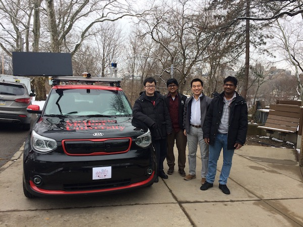 Safe AI Lab vehicle and researchers